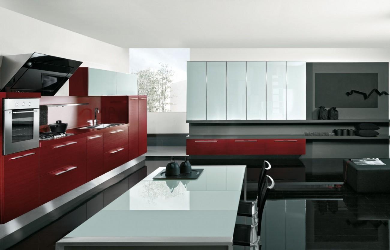 Cucina rossa with cucina rossa - Cucina bianca e rossa ...